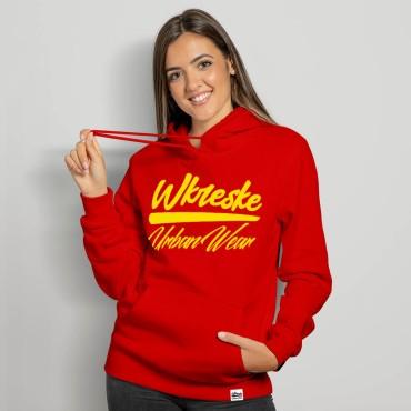 UrbanWear Red - Bluza damska z kapturem