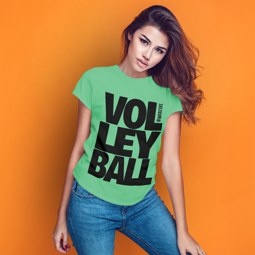Volleyball Mint - Koszulka damska