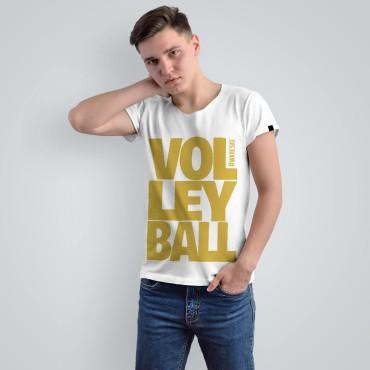 Volleyball White - Koszulka męska