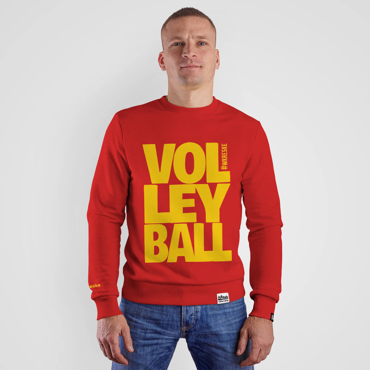 Volleyball Red - Bluza bez kaptura