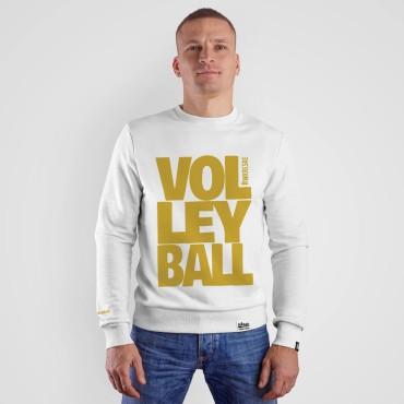 Volleyball White - Bluza bez kaptura