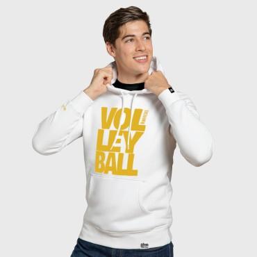 Volleyball White - Bluza męska z kapturem