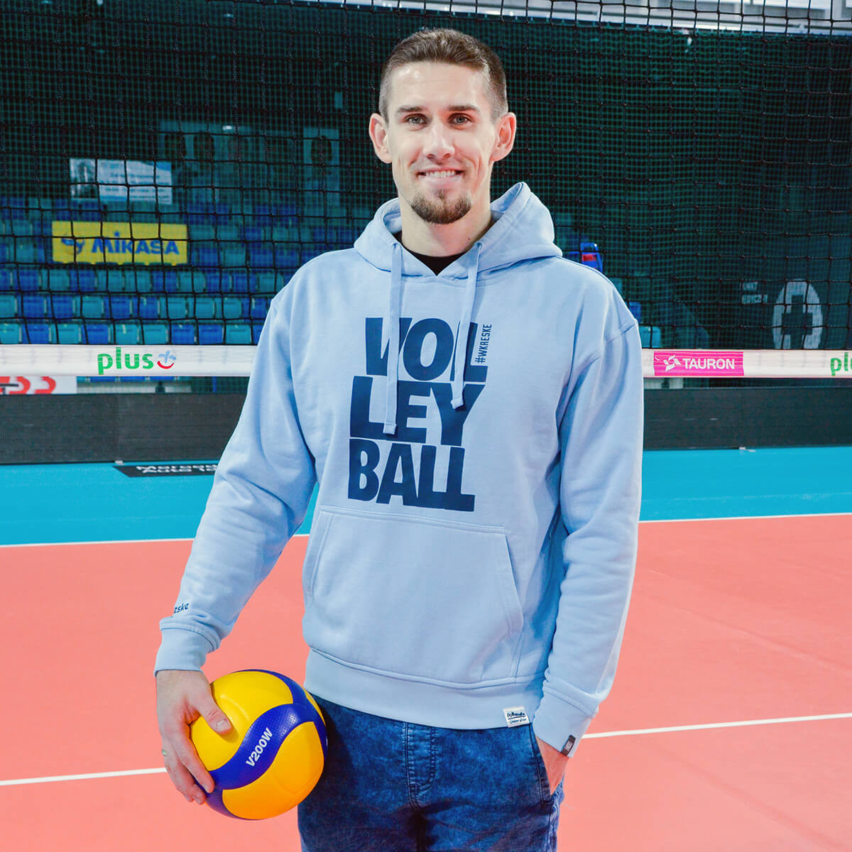 Volleyball Blue Sky - Bluza męska z kapturem