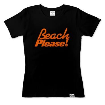 Beach Please! - Koszulka damska czarna
