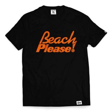 Beach Please! - Koszulka męska czarna