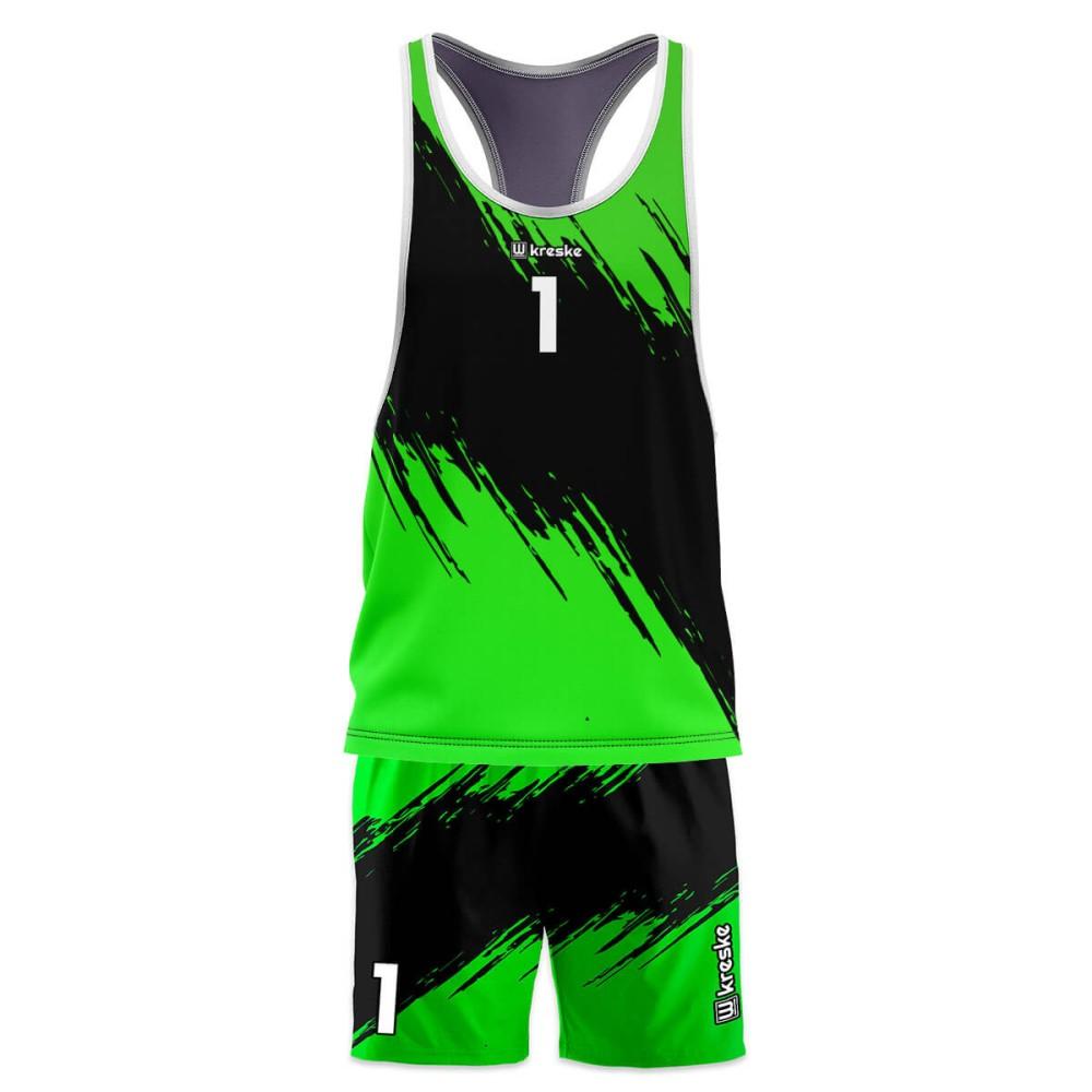 Stripe Green - strój do siatkówki plażowej