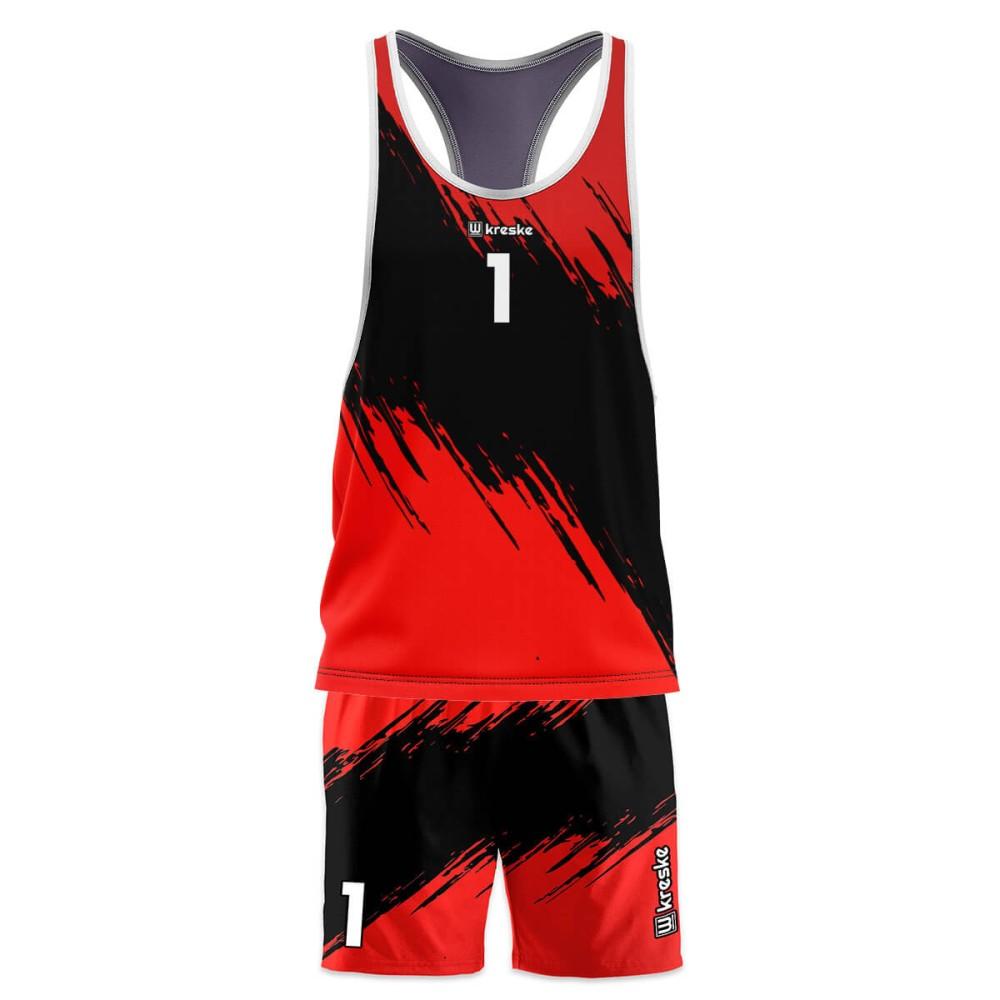 Stripe Red - strój do siatkówki plażowej