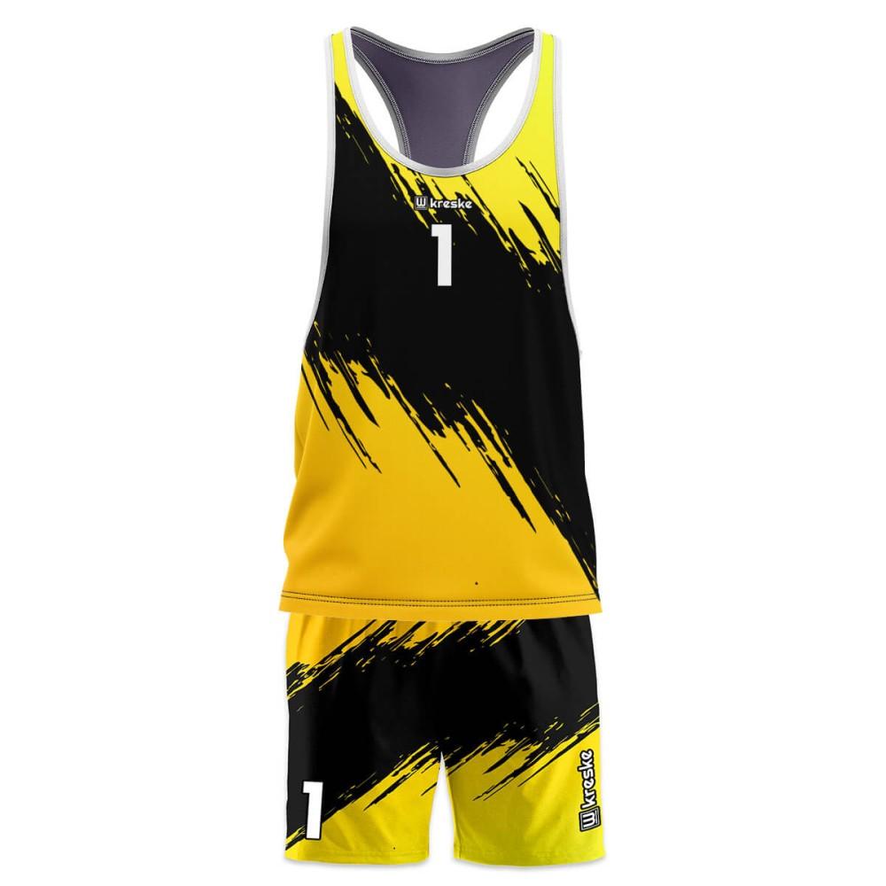 Stripe Yellow - strój do siatkówki plażowej