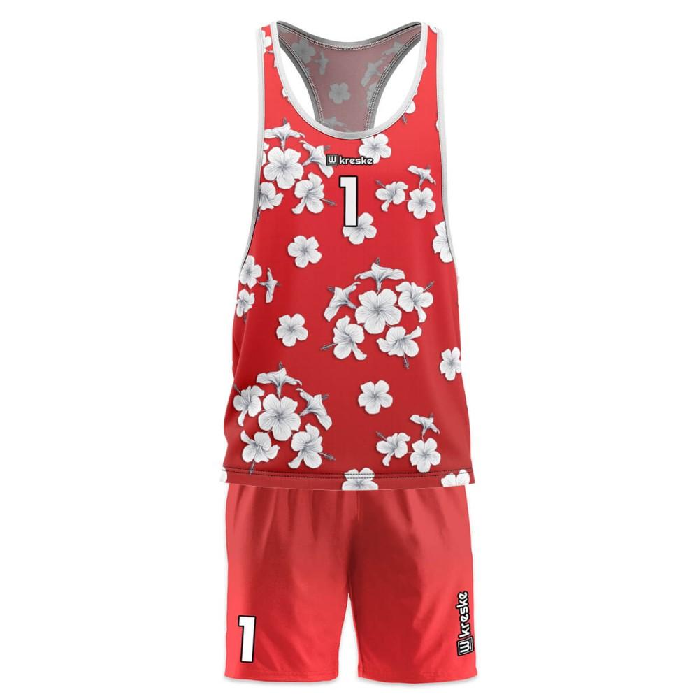 Hawaii Red - strój do siatkówki plażowej