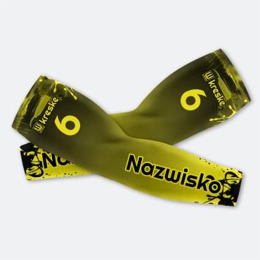 Splatter Yellow - Rękawki Siatkarskie Fullprint